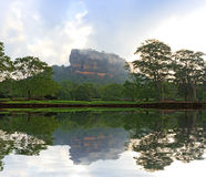 Sigiriya Castle in morning mist Stock Photography