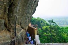 Sigiriya/etapas a Sigiriya/imagem que mostra as etapas que conduzem a Sigiriya& x27; parte superior de s, Sri Lanka recolhido, o  imagem de stock