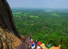 Sigiriya/etapas a Sigiriya/imagem que mostra as etapas que conduzem a Sigiriya& x27; parte superior de s, Sri Lanka recolhido, o  imagem de stock royalty free