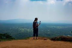 Sigiriya/etapas a Sigiriya/imagem que mostra as etapas que conduzem a Sigiriya& x27; parte superior de s, Sri Lanka recolhido, o  fotos de stock