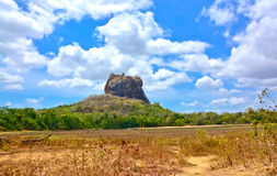 Sigiriya-Felsen-Festung Lizenzfreie Stockfotografie