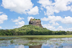 Sigiriya Felsen-Festung, Sri Lanka stockbild