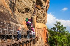 Sigiriya Felsen, Sri Lanka Lizenzfreies Stockbild