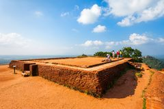 Sigiriya Felsen, Sri Lanka Stockfotografie