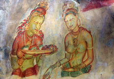 Sigiriya Fresco Royalty Free Stock Photo