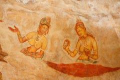 Sigiriya frescoes royalty free stock image