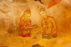 Sigiriya frescoes Stock Image