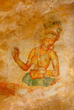 Sigiriya frescoes Stock Photo