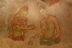 Sigiriya Frescoes Royalty Free Stock Image
