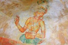 Sigiriya Frescoes - Sri Lanka UNESCO World Heritage Stock Photos