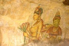 Sigiriya Frescos, Sri Lanka Stock Image