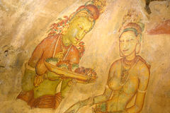 Sigiriya Frescos, Sri Lanka Stock Photography