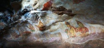 Sigiriya frescos in Sri Lanka Stock Image