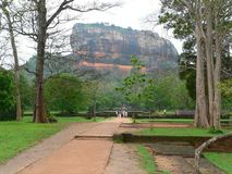 Sigiriya lion rock stock photography