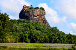 Sigiriya Lion Rock Fortress in Sri Lanka Lizenzfreie Stockbilder