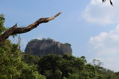 Sigiriya Lion Rock of sri Lanka. royalty free stock photography