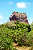 The Sigiriya (Lion's rock) is an ancient rock fortress Stock Images