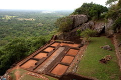 Sigiriya - Lion's rock in Sri Lanka Royalty Free Stock Images