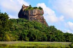 Sigiriya lwa skały forteca w Sri Lanka Obrazy Royalty Free
