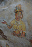 Sigiriya Maidens fresco Stock Photos