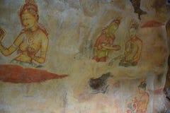 Sigiriya Maidens fresco Stock Photography