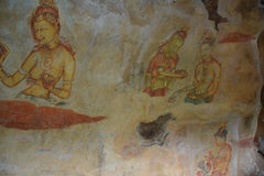 Sigiriya Maidens fresco Stock Photography
