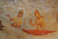 Sigiriya Maidens frescoes Stock Photo