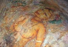 Sigiriya-Malerei Stockfoto