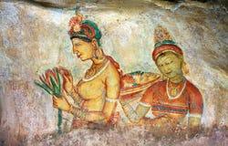 Sigiriya-Malerei Stockfotografie