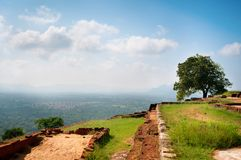 Sigiriya - the palace and fortress on the rock Royalty Free Stock Photography