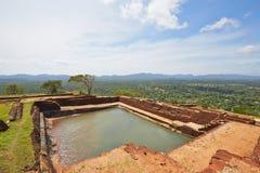 Sigiriya. Pool on the top of Sigiriya in Sri Lanka. Sigiriya is on World Heritage Sites (UNESCO Royalty Free Stock Photo