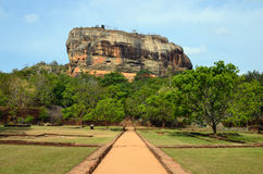 Sigiriya rock. Ancient City of Sigiriya in Sri Lanka Royalty Free Stock Images