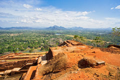 Sigiriya Rock. Top of Sigiriya Rock Archeological site in Sri Lanka Stock Photos