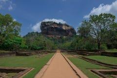 Sigiriya rock Fotografering för Bildbyråer