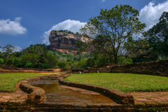 Sigiriya rock. Famous Sri Lankan tourist landmark, Sri Lanka Stock Photo