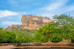 Sigiriya Rock Fortress 5 Century Ruined Castle. That Is Unesco Listed As A World Heritage Site In Sri Lanka Stock Photography