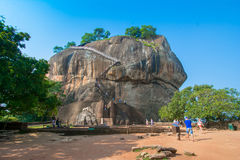 Sigiriya Rock Fortress In Sri Lanka. Sigiriya Rock Fortress 5 Century Ruined Castle That Is Unesco Listed As A World Heritage Site In Sri Lanka Stock Image