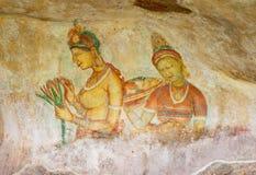 Sigiriya Rock Fresco Stock Images