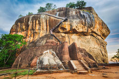 Sigiriya rock. Panorama. World Heritage Site Sgiriya or Lion rock. Panorama Royalty Free Stock Photos