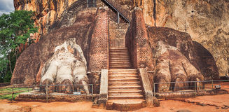 Sigiriya rock. Panorama. World Heritage Site Sgiriya or Lion rock. Panorama Royalty Free Stock Image