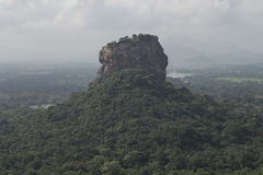 Sigiriya rock from Pidurangala Rock, Sri Lanka. Sigiriya rock from Pidurangala Rock overlooking the forest. Sigiriya, Sri Lanka royalty free stock photo