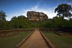 Sigiriya rock in Sri Lanka. Historic place in Sri Lanka - Sigiriya rock Stock Photos