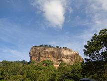 Sigiriya rock in Sri Lanka royalty free stock images