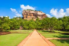 Sigiriya Rock, Sri Lanka. Sigiriya Rock or Lion Rock is an ancient fortress near Dambulla, Sri Lanka. Sigiriya is a UNESCO World Heritage Site Royalty Free Stock Photo