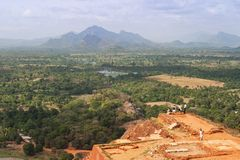 View From Sigiriya Rock Stock Photos