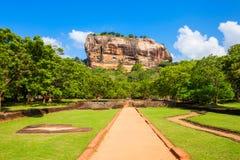 Sigiriya Rock, Sri Lanka. Sigiriya Rock or Lion Rock is an ancient fortress near Dambulla, Sri Lanka. Sigiriya is a UNESCO World Heritage Site Royalty Free Stock Image
