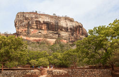 Sigiriya Rock in Srilanka Royalty Free Stock Photos