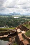 Sigiriya ruins. Part of the ruins of the palace and fortress of Sigiriya, Cultural Triangle, Sri Lanka Royalty Free Stock Image