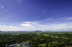 Sigiriya sikt Sri Lanka Arkivfoto