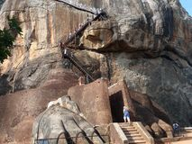 sigiriya Sri Lanka утеса стоковые фотографии rf